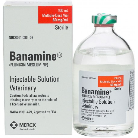BANAMINE (FLUNIXIN MEGLUMINE) 50mg/ml 250 ml